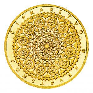 zlatnik čipkarstvo Croatian Mint