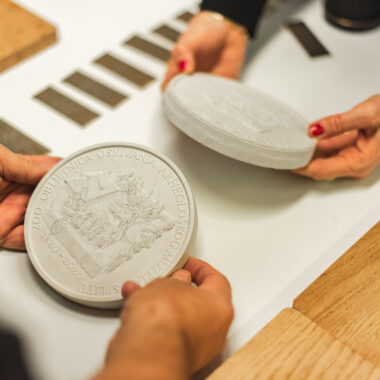 coin plaster cast